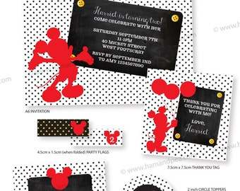 Mickey Mouse Inspired Basic Package DIY Printable
