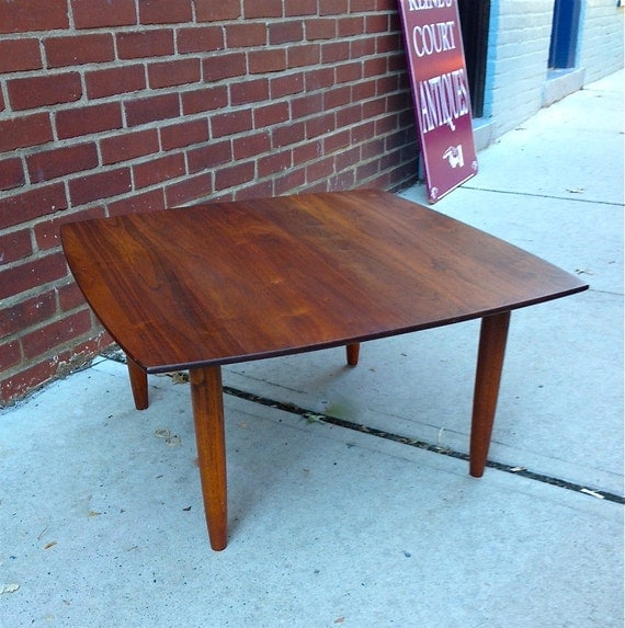 RESERVED Square Rosewood Coffee Table Mid Century Modern Dux