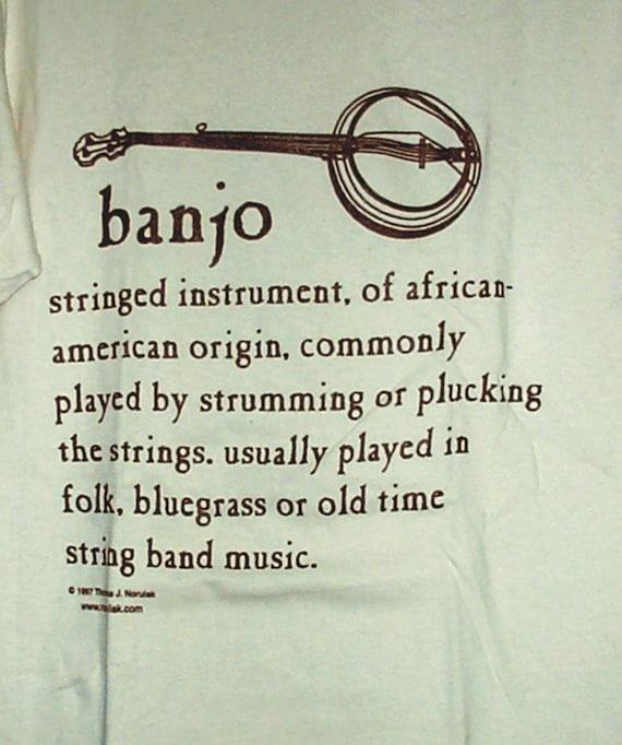 Hand Screenprinted Banjo Definition T-Shirt