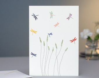 Dragonflies & Grass Card