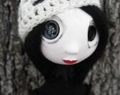 Custom Art Doll - Buttom Eyed Art Doll - Spooky Art Doll - French Art Doll - Cloth Art Doll
