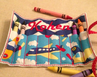 Adorable Personalized Crayon Roll