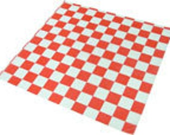 Red Check Deli Wrap-Pack of 25
