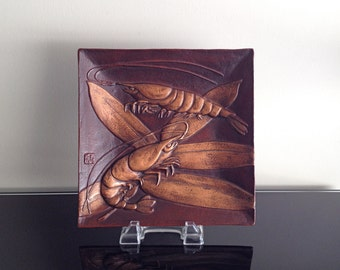 Diane Love Mikasa Bronze Tray with Lobsters