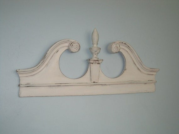 Large Architectural Wall Decor : English colonial salvaged mirror pediment up cycled