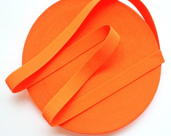 "1"" Neon Orange Stretch Elastic Band"