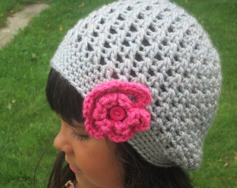 Handmade Crochet Slouch or Chemo Hat- Teen or Adult sizes  MADE TO ORDER