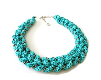 Turquoise Nautical Statement Necklace