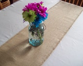 Table Runner, 10 x 48 to 18 x 48, Rustic Burlap Table Runner, Choose Color and Size, Small Table Runner, Beach House Decor, Farmhouse Decor
