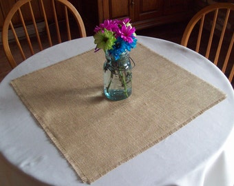 Set of 12 Rustic Burlap Table Squares, Wedding Table Decor, Burlap Table Overlays, Spring, Summer, Fall, Winter Country Wedding Table Decor