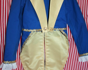 Beast Costume Adult Tailcoat Jacket - Sizes 4 -to Adult  - Birthday, Halloween, Beauty and the Beast Inspired, Prince Costume