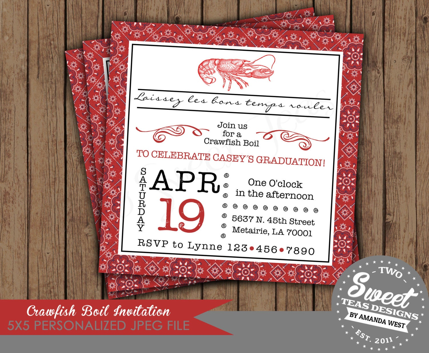 Crawfish Boil Invitation Birthday Party Couple By 2sweetteas