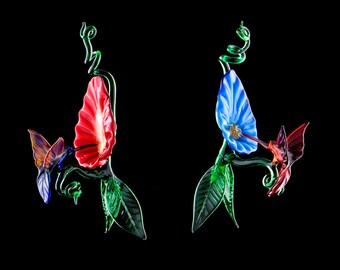 Hanging Flower and Hummingbird