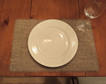 Set of 10  Burlap Placemats