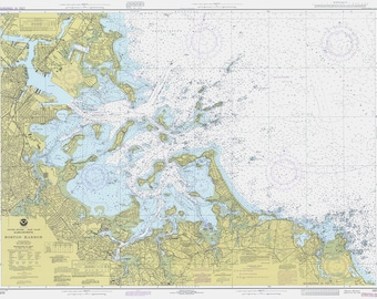 1979 Nautical Chart of Boston Harbor