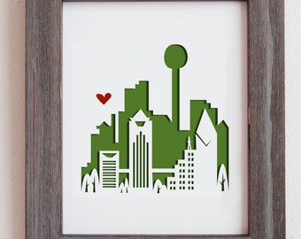 Dallas, Texas.  Personalized Gift or Wedding Gift