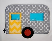 Camper Airstream Fifth Wheel Applique Design Machine Embroidery INSTANT DOWNLOAD