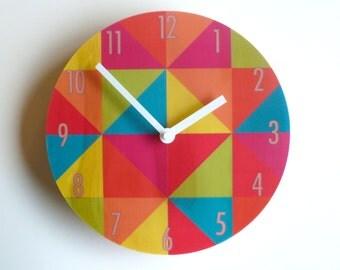 Objectify Bright Grid Wall Clock