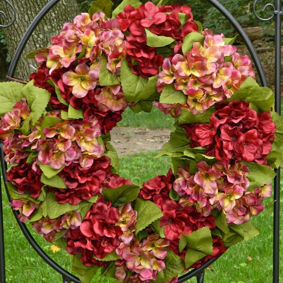 Sale Hydrangea Wreath Fall Wreath Autumn Wreath