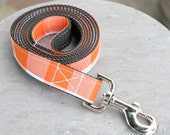 Leash - Checkered Orange and White