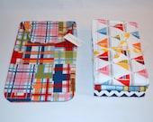 Baby Gift Set Boy Burp Cloths and Diaper Clutch Gift Set - Boutique Boy Burp Cloth Set - Diaper Clutch - Sweet Sailor Set