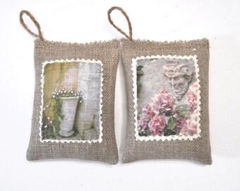Lavender cushions Secret garden. French organic lavender from France