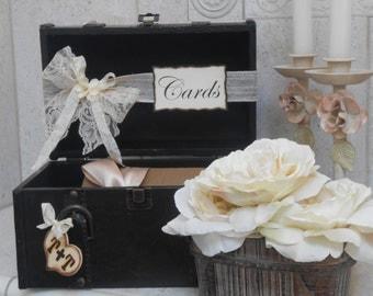 Suitcase Wedding Card Holder / Train Case Cardholder / Wedding decoration / Card Holder / Card Box