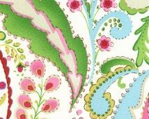 Cotton fabric by the yard yardage- Kumari Garden Teja Pink Dena Designs