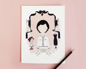 COCO CHANEL PRINT 8 x 10 Archival Pink Illustration