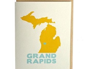 Grand Rapids Michigan card, michigan greeting card, grand rapids