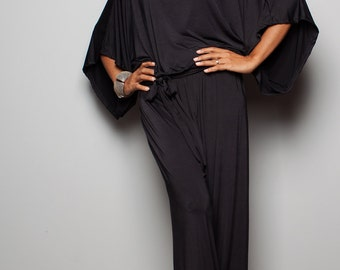 Black Jumpsuit - Jumper Maxi Dress : Chic & Casual Collection No 1