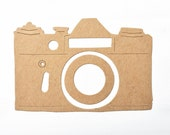 Camera chipboard die cut shapes. Click bare thick board embellishments more designs photography
