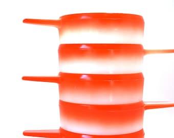 5 Stackable Orange Fade Ovenware Bowls