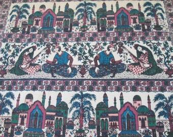 "Breton Fabrics Textile wall hanging ""Hejaz"" Modernist mid century"