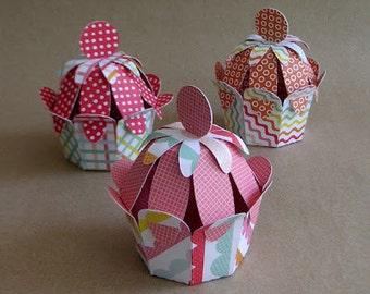 DIY paper cupcakes - SVG cutting file