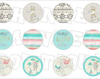 Made to Match Gymboree M2MG Snowflake Glamour bottlecap image sheet