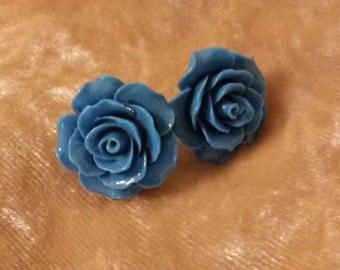 Ceramic Flower Earring Pair