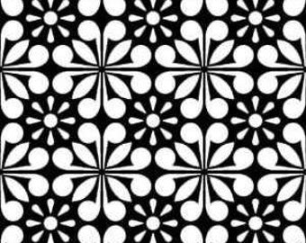 Fantasy - Black Starburst by Wendy Wilson from Newcastle Fabrics, LLC