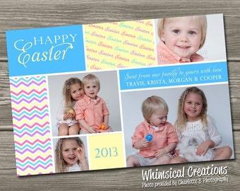 Easter Card, Easter Photo Card (Digital File) I Design, You Print