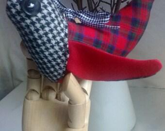 Recycled Fabric Tweedie Bird