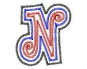 """Triple Applique Font Set - CURLZ - Machine Embroidery Design - 5"""",6"""" and 5x7 Hoop"""