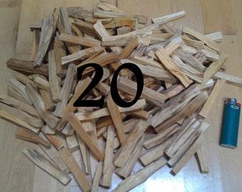 1/4 lb, 4 oz Palo Santo Wood Incense Sticks For Smudging, Tea, Always Fresh High Quality Palo Santo Sticks