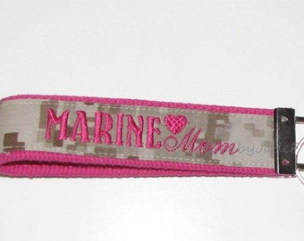 Marine MOM Key Fob in Pink