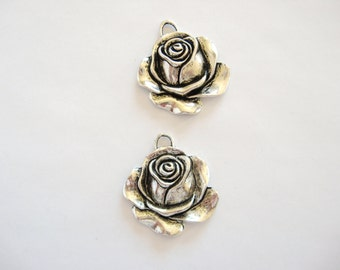 2 Rose Focals or Charms for your Creations