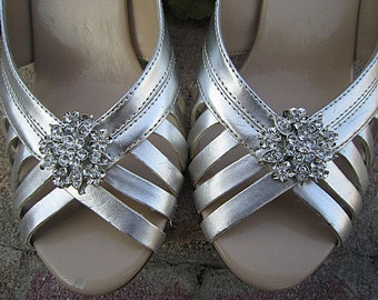 Bridal Rhinestone Shoe Clips Wedding Shoe Accessory -- GIANNA
