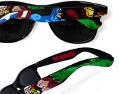 The Avengers Custom sunglasses - unique hand painted Wayfarer glasses - Captain America - Thor - Hulk - Iron Man comic