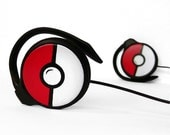 Poke-phones Headphones earphones red white black