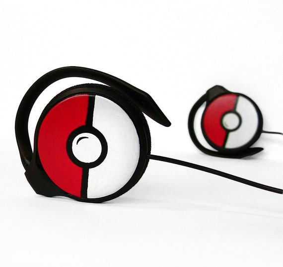 Poke-phones custom Pokemon gift headphones customized Pokeball birthday gift for her gift for him geek Pokephones video game earphones sound