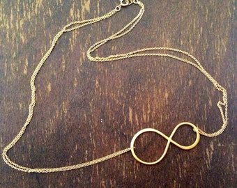Infinity Necklace - Gold Vermeil - Everyday Jewellery - Fashion Jewelry - Pendant - Eternity