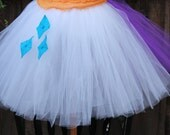Rarity Skirt My Little Pony with a felt cutie mark - fashion pony costume my little pony halloween costume - rarity sew pony